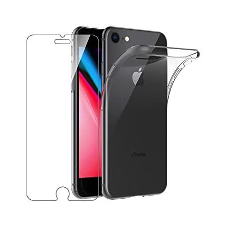 Vetro Temperato + Custodia Trasparente iPhone 7/8